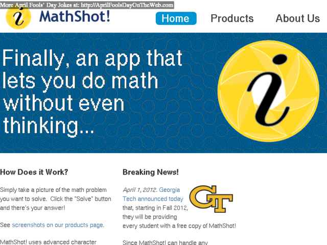 April Fools\' Day On The Web (2012/11853) (mathshot.com - Georgia ...