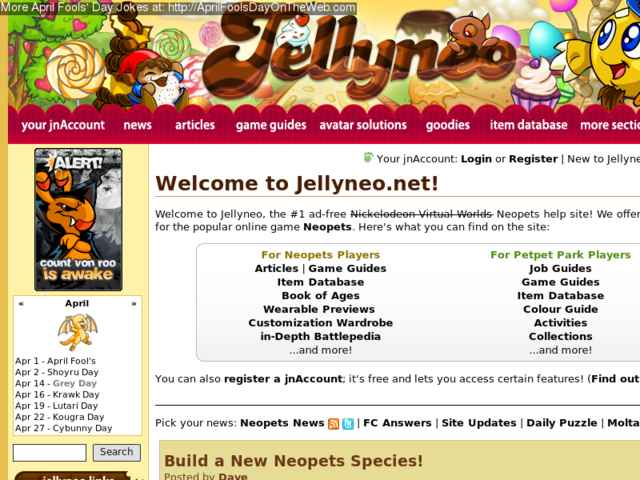 April Fools' Day On The Web (2014/20140245) (jellyneo net - Build a