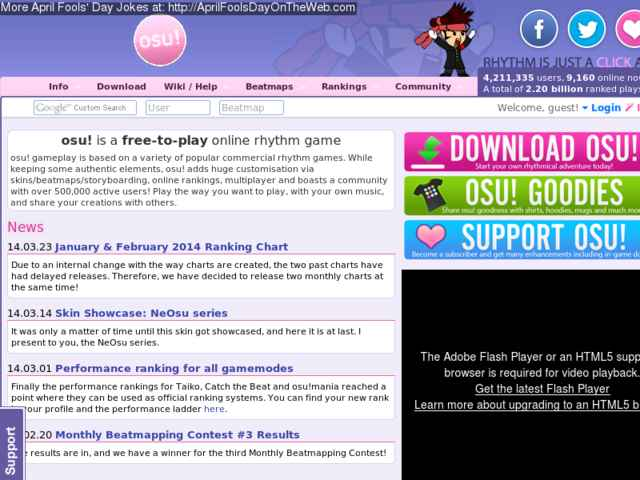 April Fools' Day On The Web (2014/20140373) (osu ppy sh - In