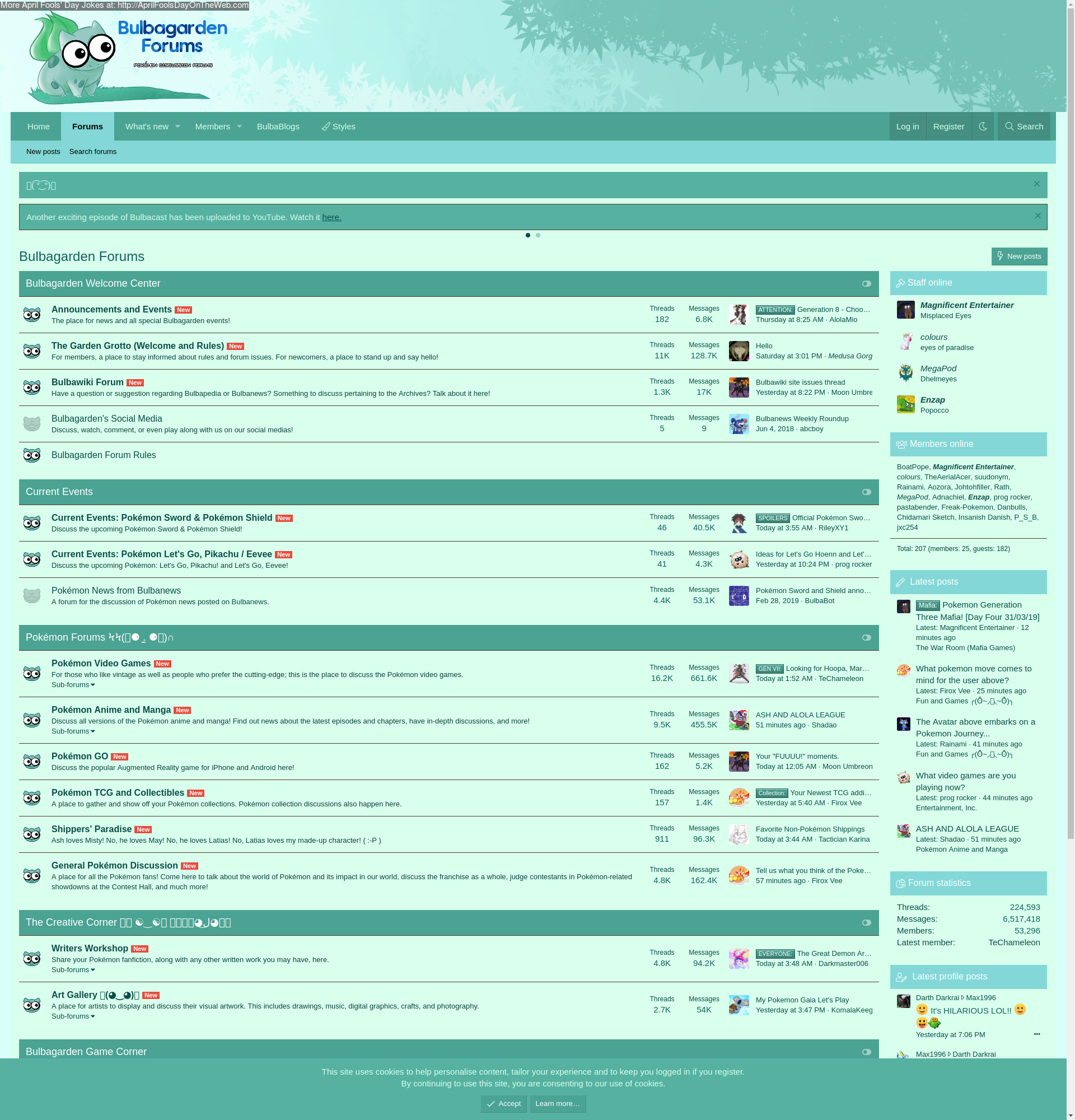 April Fools' Day On The Web (2019/20190154) (forums